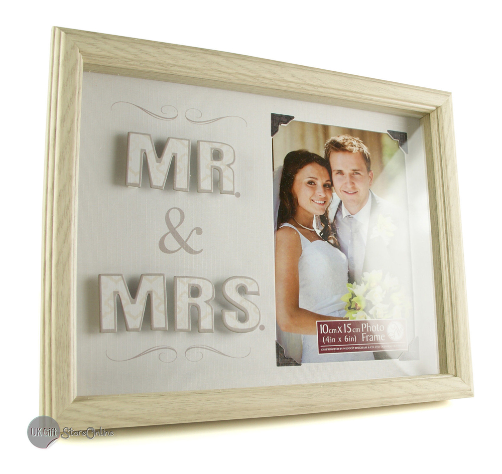 Wedding Gifts Mr And Mrs: Mr And Mrs Wedding Photo Frame Wedding Gift NEW NV308