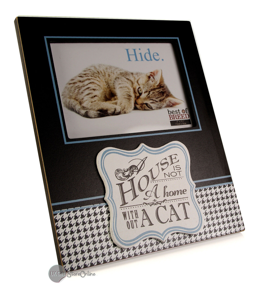 The house is not a home without a cat photo frame gift bb116 ebay