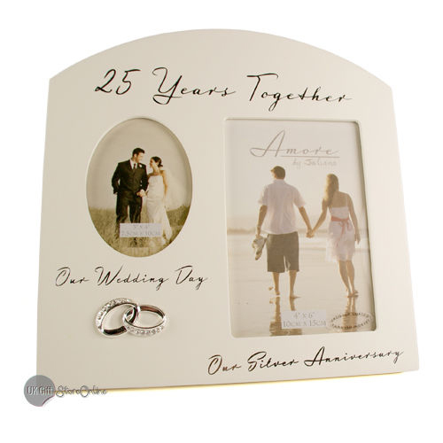 Return Gifts For 25th Wedding Anniversary: Silver 25th Wedding Anniversary Multi Photo Picture Frame