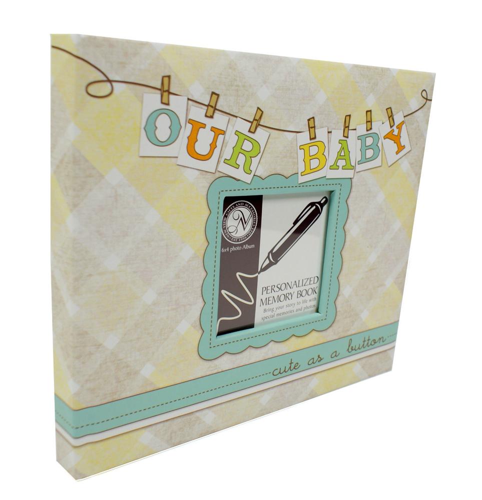 * TREASURED MEMORIES * Baby Memory Keepsake Book Photo ...