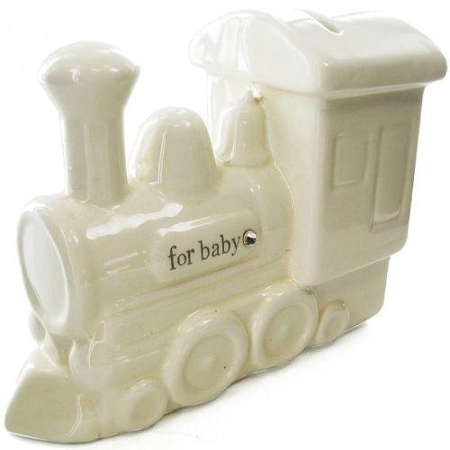 Ceramic train by bambino money piggy bank baby gift cg816 ebay - Train piggy banks ...